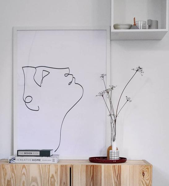 Are you fancy line art posters? The      Look Up      wall art oozes simplicity and elegance at the same time.