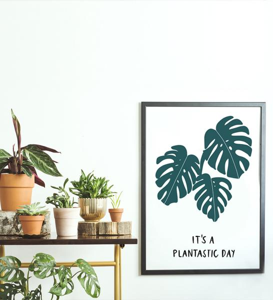 Feel the closeness of nature with the happy    Plantastic Day    poster!