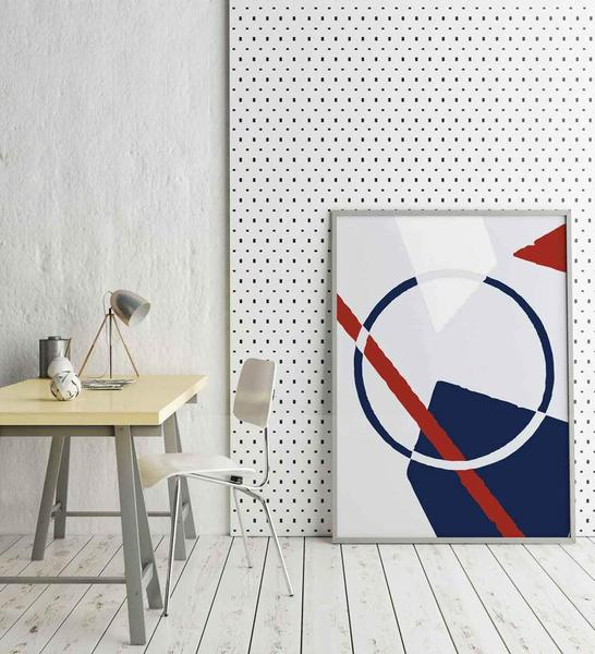 Stay focused in your office with a geometry poster like our      Bauhaus      wall art!