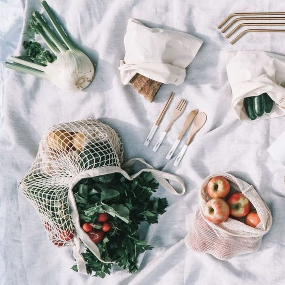 Sustainability article. Image of zero waste items