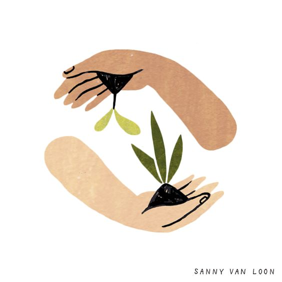 Sustainability article. Image of Sanny Van Loon illustration