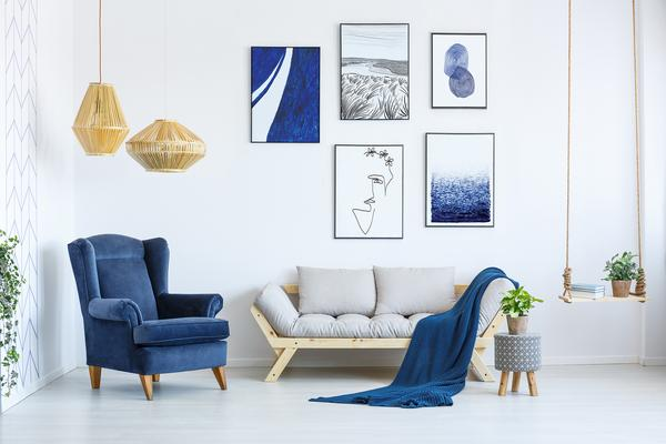 Poster wall featuring designs from our      Nordic Sea Collection     .