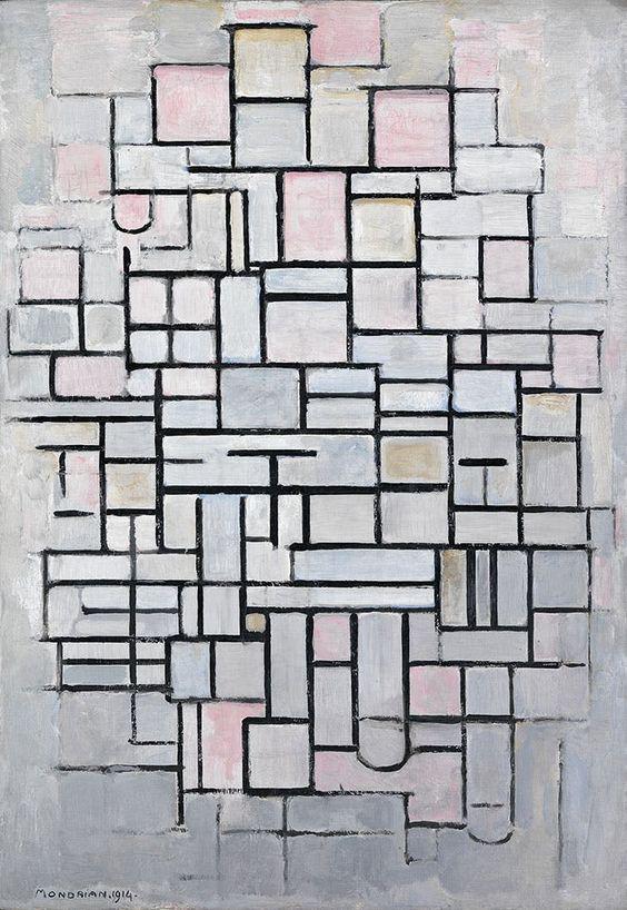 Piet Mondrian,  Composition IV,  1914