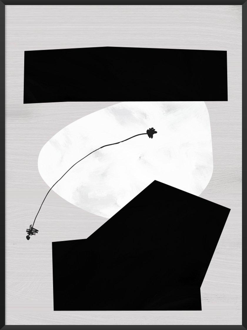 Monochrome Art. Image of Moon Phases Poster.jpg
