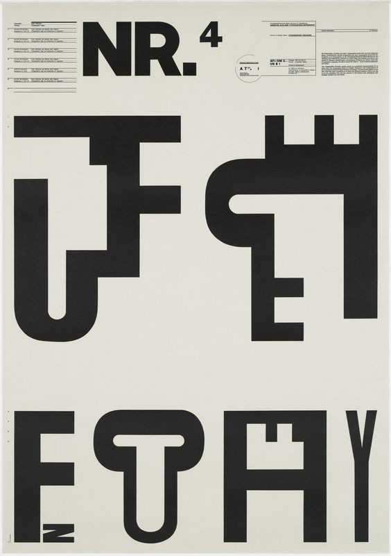 Wolfgang Weingarts Typographic Process prints from the 1970s.