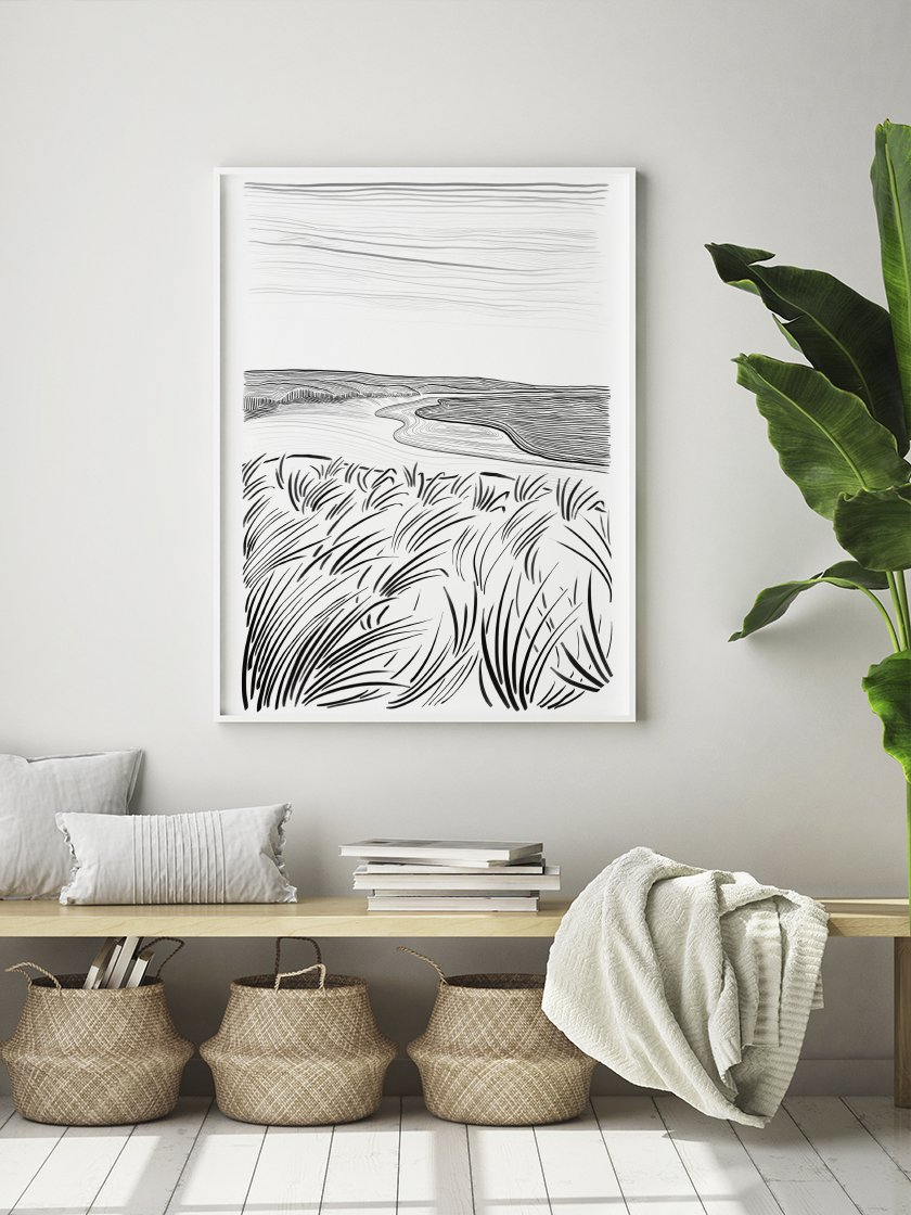 Our calming      Danish Beach Poster     , perfect for Scandinavian interiors!