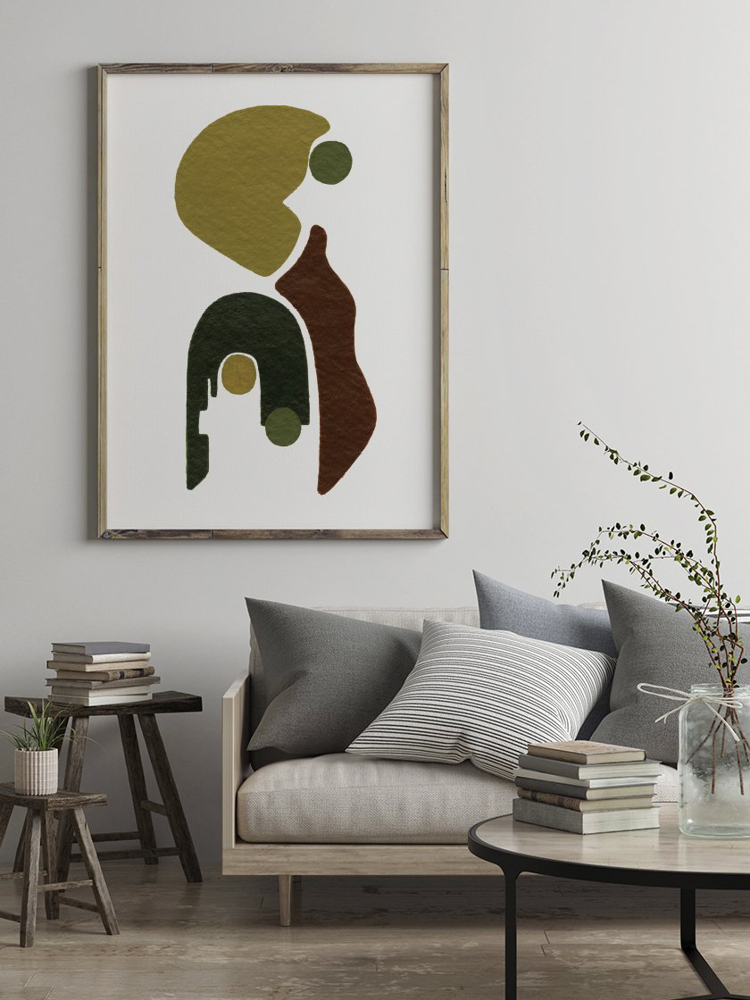 Our lovely      Motherhood Poster      in a typical Scandinavian interior!