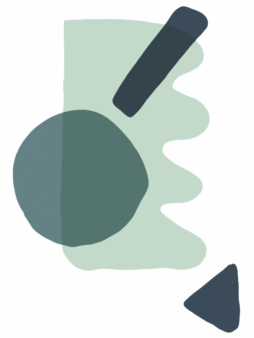 ABSTRACT MINT GREEN SHAPES