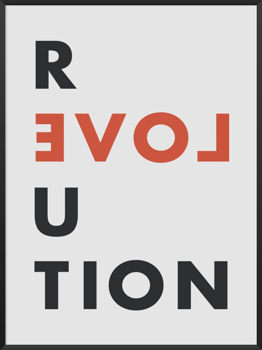Rented apartment feel like home article. Image of Love Revolution poster