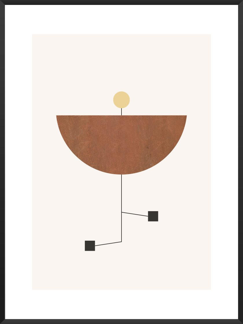 Simple, modern, geometric designs, our      Play poster     .