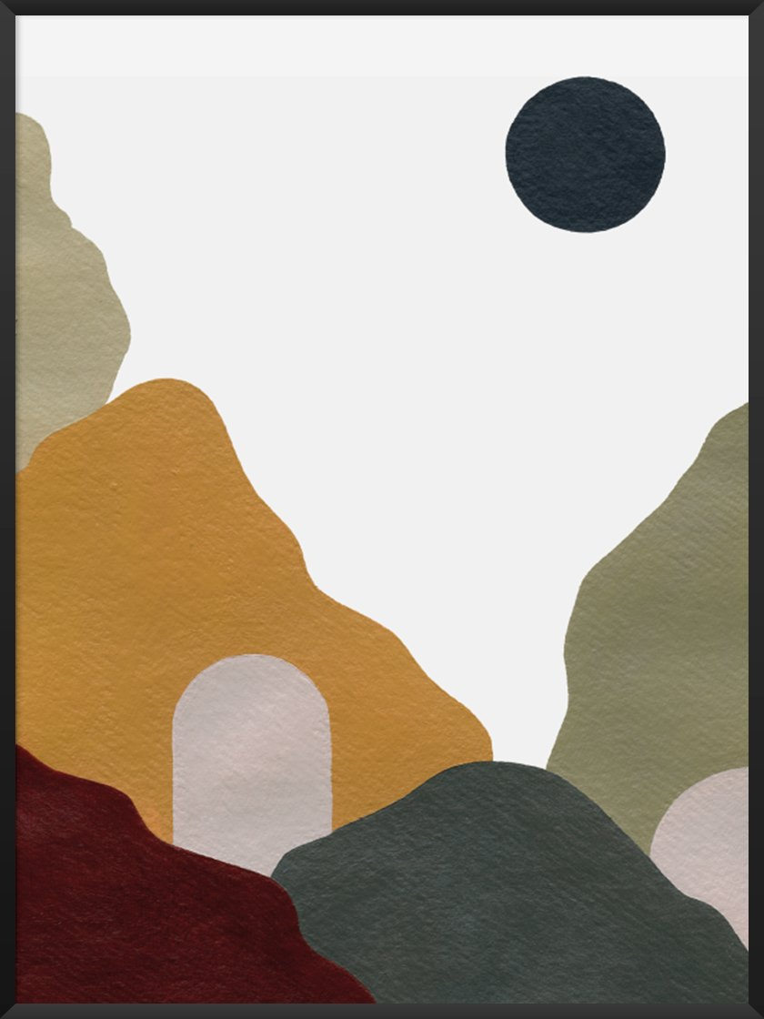 Premium Scandinavian Art article. Image of Abstract Mountains poster