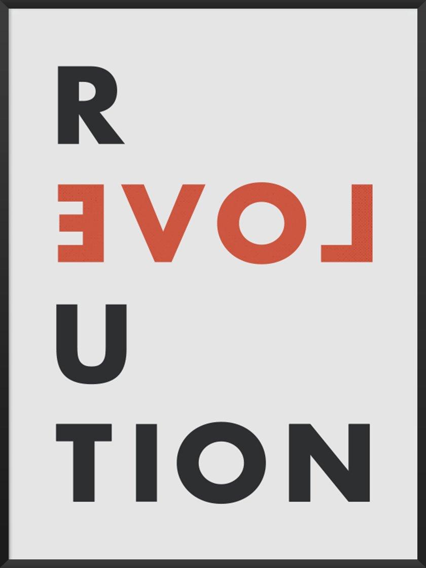 Premium Scandinavian Art article. Image of Love Revolution poster