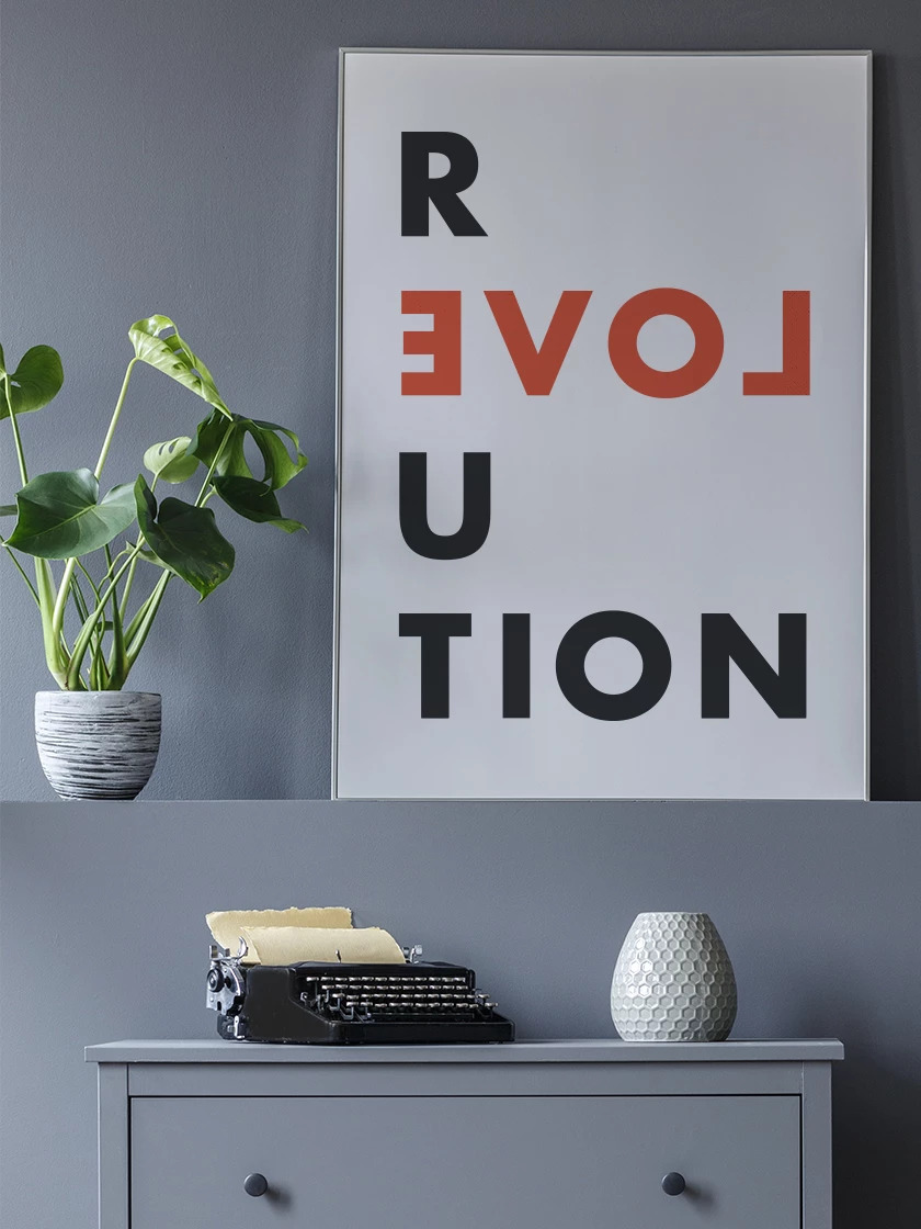 Our beautiful      Love Revolution poster     , a real favourite!