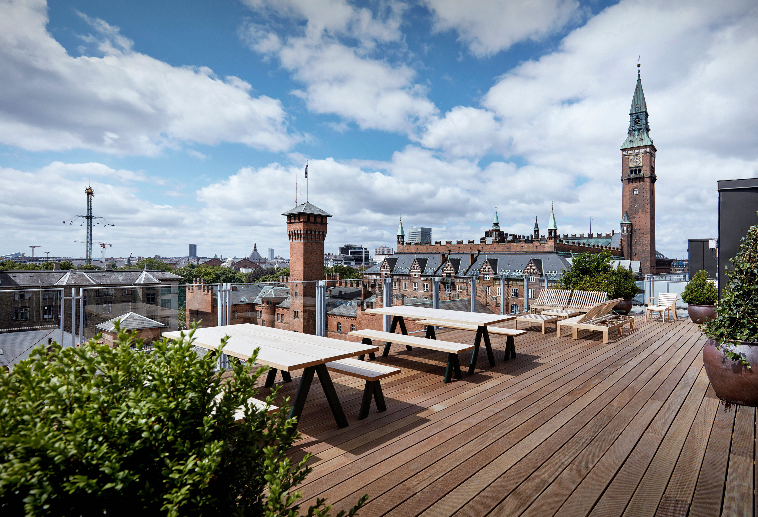 The rooftop view from above      Hotel Danmark     !