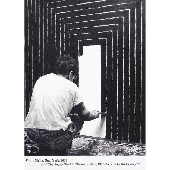 The Minimalist Art Movement article. Image of Frank Stella at work