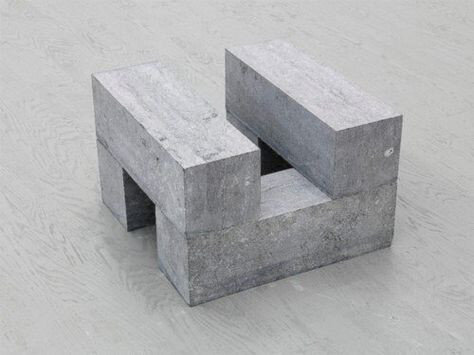 One of Carl Andre's pieces, made out of commercial blocks