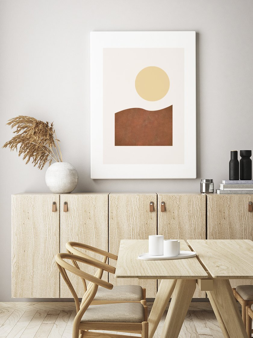 Our beautiful      Modern Abstract Sunrise Poster     , perfect for the kitchen setting!