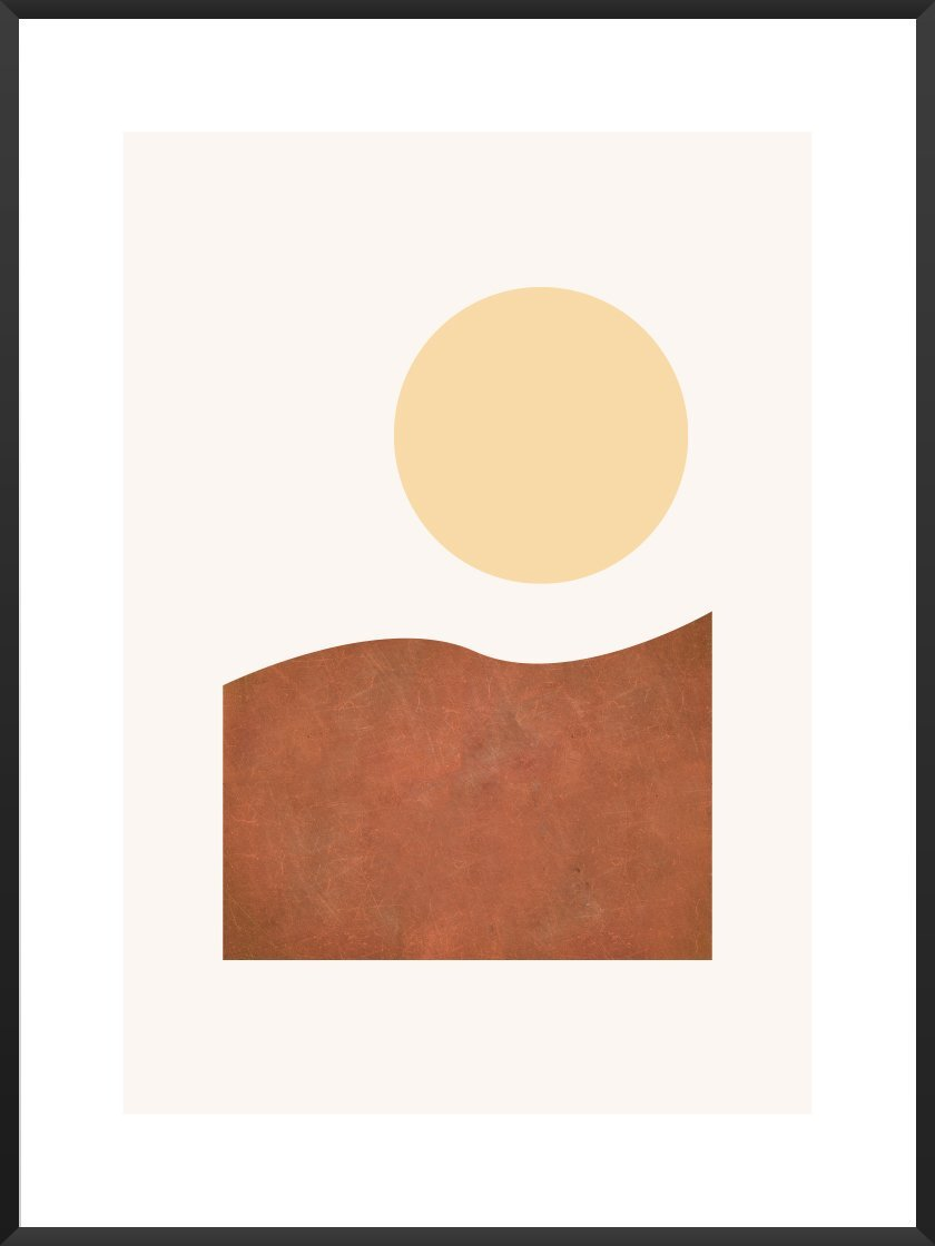 Scandinavian Kitchen article. Image of Modern Abstract Sunrise poster