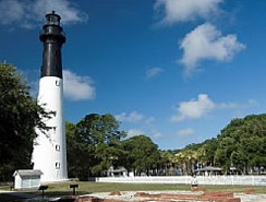 Hunting Island State Park - Take a walk along the island's pristine, sandy beach and pitch a tent at the area's campground. And don't forget to climb the steps of the lighthouse, which is the only one in the state open to the public. At the top, you'll catch a breathtaking view of the ocean, beach and marshland.