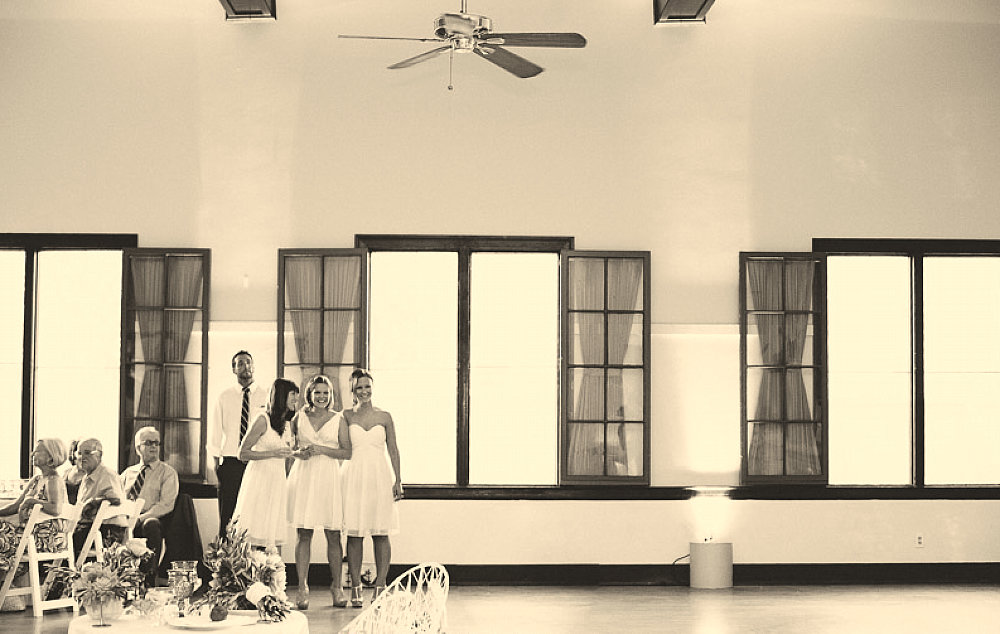 Future Brides Admire the Newlywed's First Dance at Wedding Reception