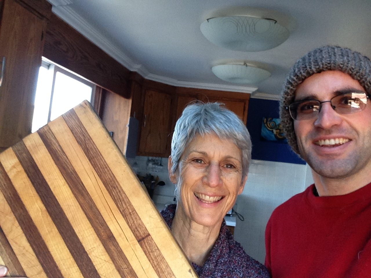 Repairing A Cutting Board For A Hand Knitted Hat