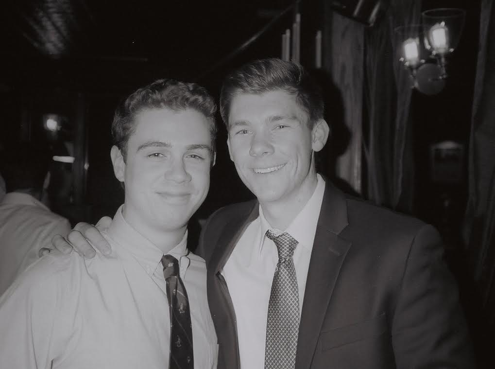 James Hearn '21 and father, Eric Bragg '20 at the Founder's Day event at the Union League Club in New York City (Jan 26, 2019)