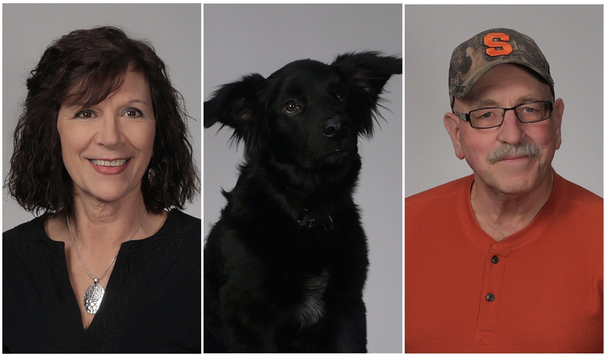 Our amazing chefs, Susan and Allen Blinebry, and their dog, Koda
