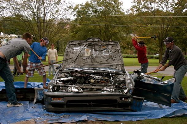 """Our popular event during Recruitment Week called """"Bash the Buick"""""""