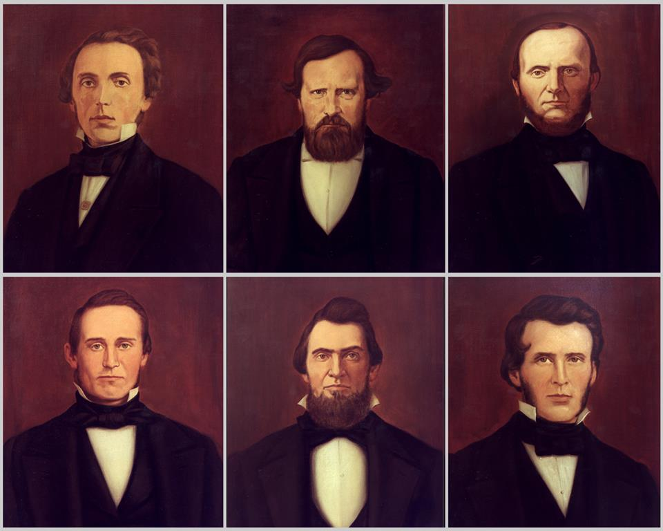 The fraternity was founded by six undergraduate students: Robert Morrison, John McMillan Wilson, Robert Thompson Drake, John Wolfe Lindley, Ardivan Walker Rodgers, and Andrew Watts Rogers, who are collectively known as  The Immortal Six