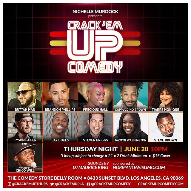 "All this funny plus two of the summers hottest hits, ""So Wavy"" & ""Chucklef****r""... Come out for music & laughs this Thursday night at #crackemupthursdays 🤩⭐️LIVE @thecomedystore!! Going strong in the Belly Room since 2003!!! #crackemup 🤡🎼🎤🤩😂💥🍻🔥 * * * * Ticket link in BIO⏫ * * * * * #crackemupcomedy #bellyroom #starsontherise #thursdayshow #lacomedy #bestofla #wavecap #sowavy #chucklefucker #musicandcomedy #funnysongs #comedyclub #poc #funnypeople #blackcomedy #betweekend #lacomedyscene #comedy #weeklyshow #thingstodoinla #everythursday #sunsetblvd"