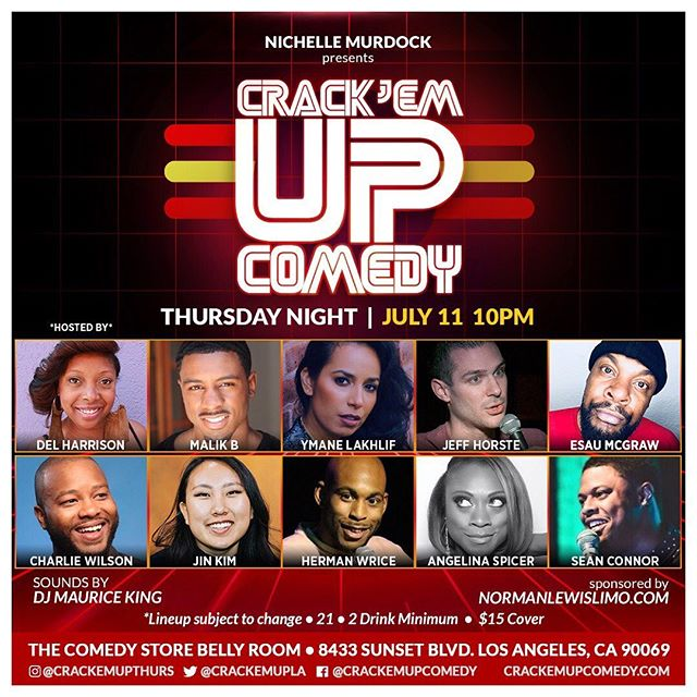 7/11!! We're back & our girl @iamdelharrison is hosting!! Get YOUR laughs in the Belly Room this Thursday!! Love 2 Laugh!! #risingstars #crackemupthursdays 🤪🤩🤣😂🍺 * * * * Ticket link in BIO🔼🎟 * * * * * #crackemupcomedy #bellyroom #starsontherise #thursdayshow #lacomedy #bestofla #joy #comedyclub #funnypeople #lacomedyscene #comedy #jokesfordays #weeklyshow #weknowfunny #behappy #normanlewislimo #lybo #everythursday #love2laugh