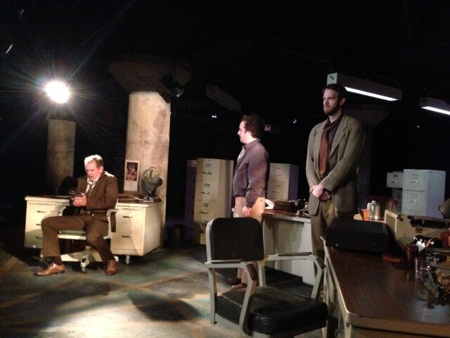 Bruce DuBose, Michael Federico and Alex Organ in the World Premiere of  Profanity  by Sylvan Oswald