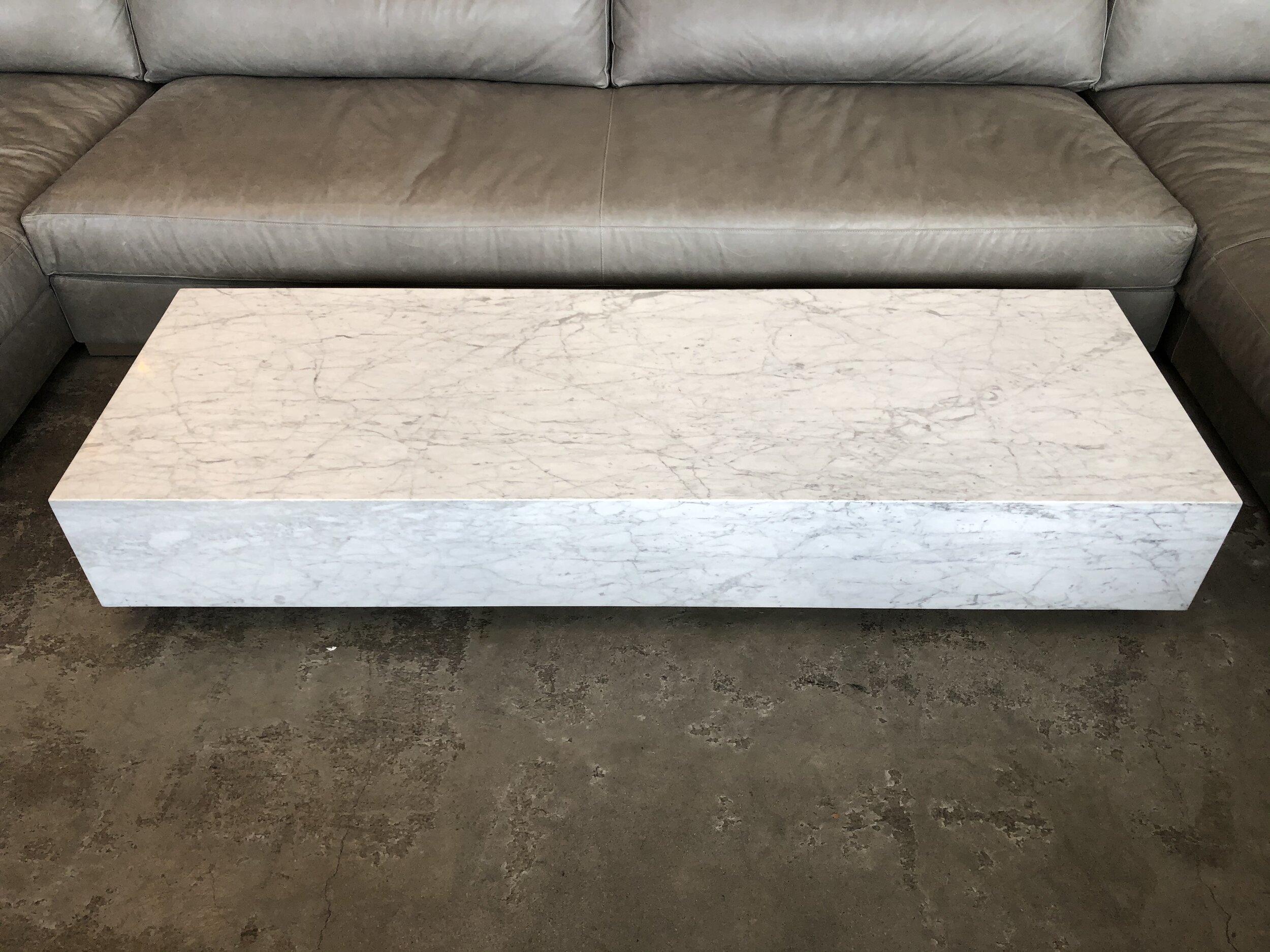 - Restoration Hardware Marble Plinth Coffee Table — Rebound