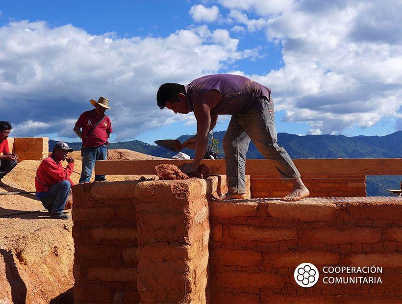 Adobe construction.  Photo courtesy of Cooperación Comunitaria