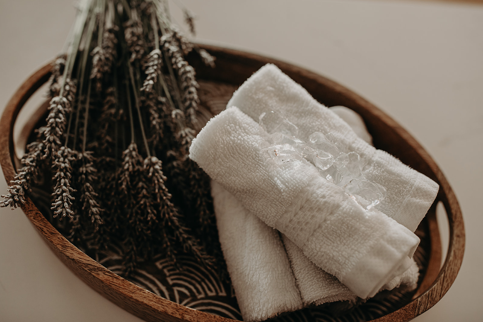 After a long workout, please enjoy a refreshing cold essential-oil infused towel at the end of each class to soothe, calm and cool your body.  Dry towels also are provided before, during and after class!
