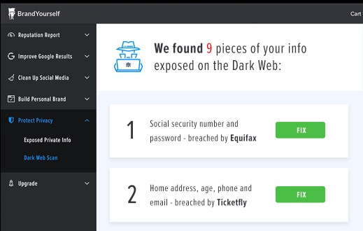 Dark Web Monitoring Software - Monitor the Dark Web for exposed personal information, follow custom steps to prevent damage after a data breach, and monitor your private info.