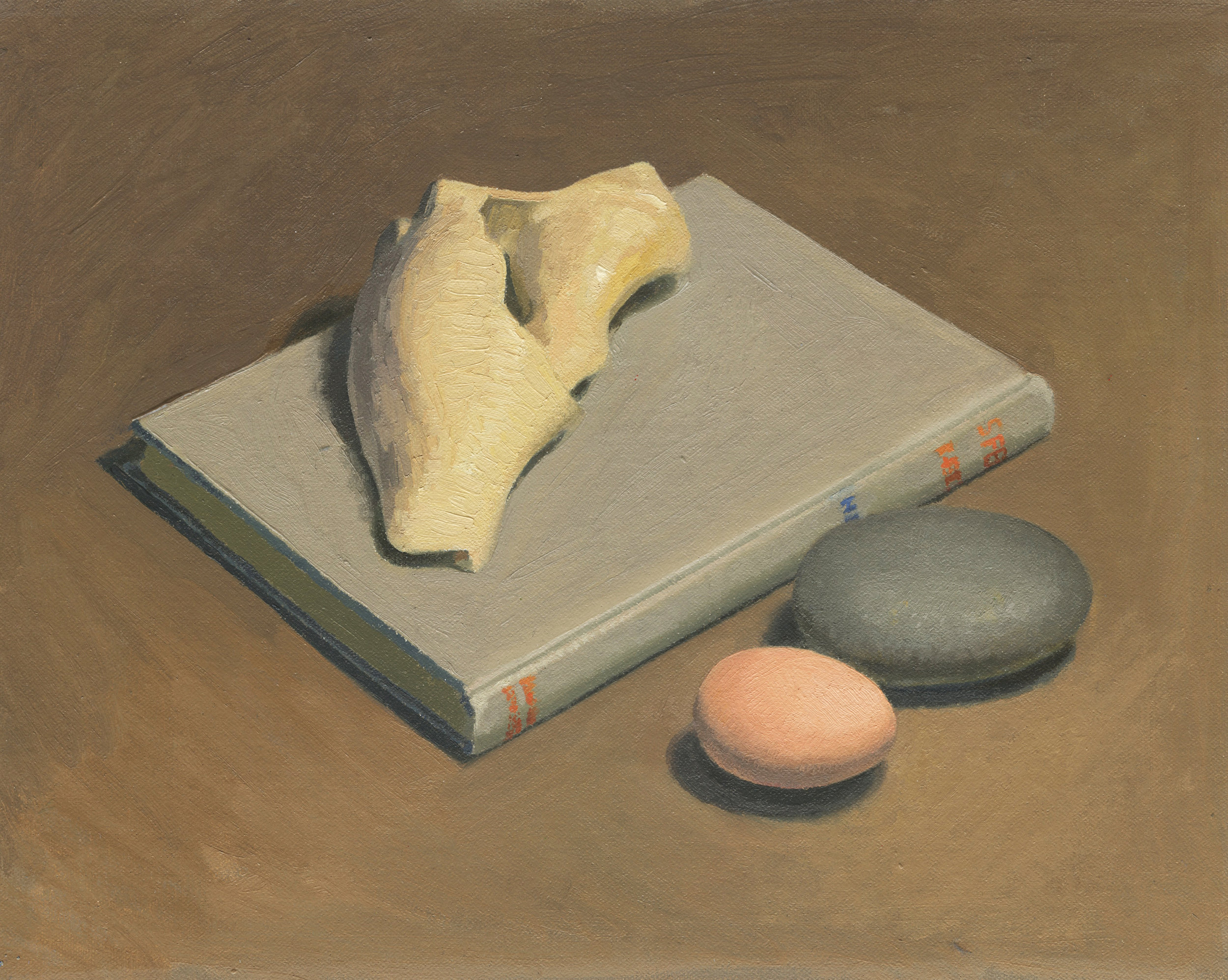 Still Life with Shell and Book
