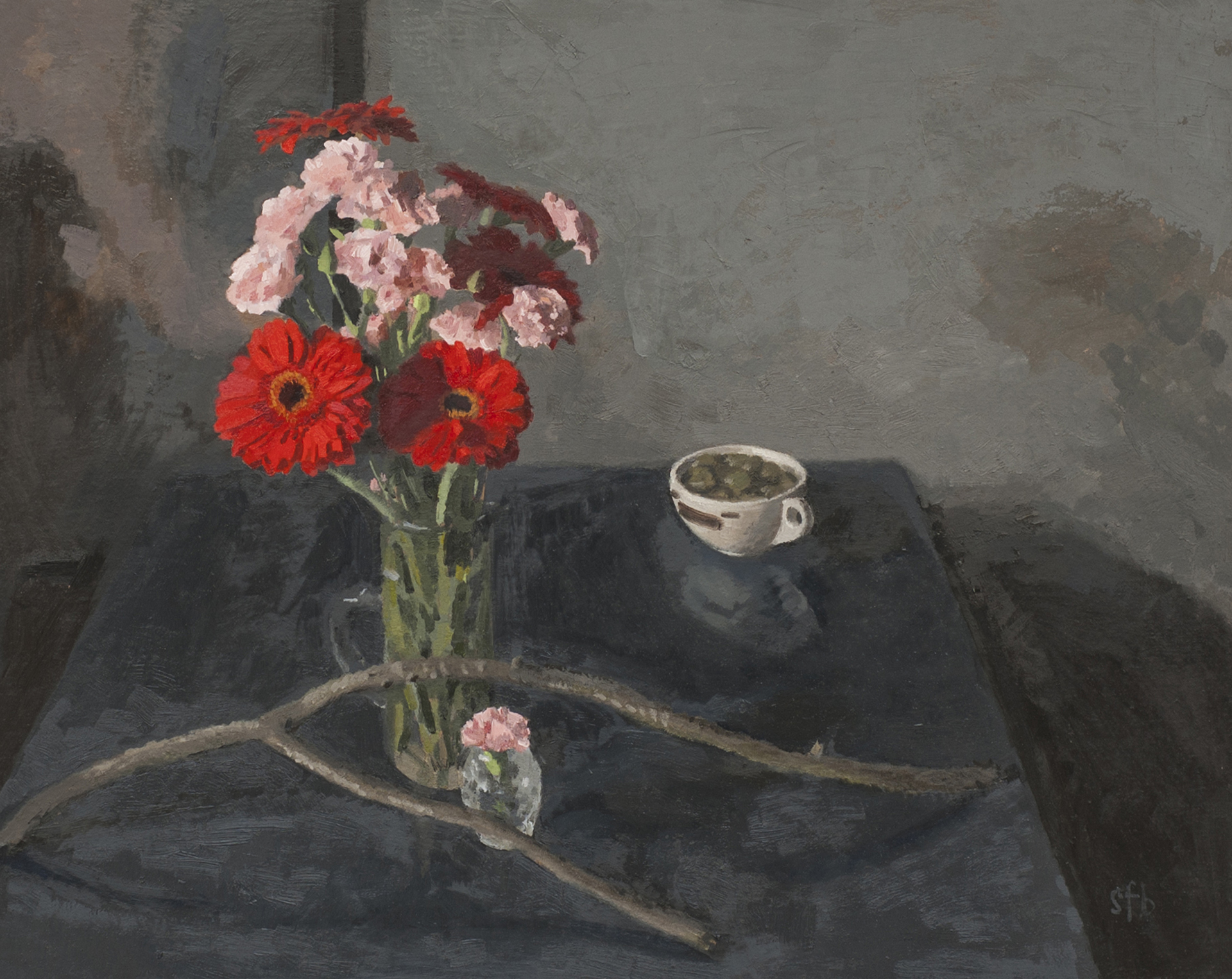 Still Life with Flowers and Tea Cup