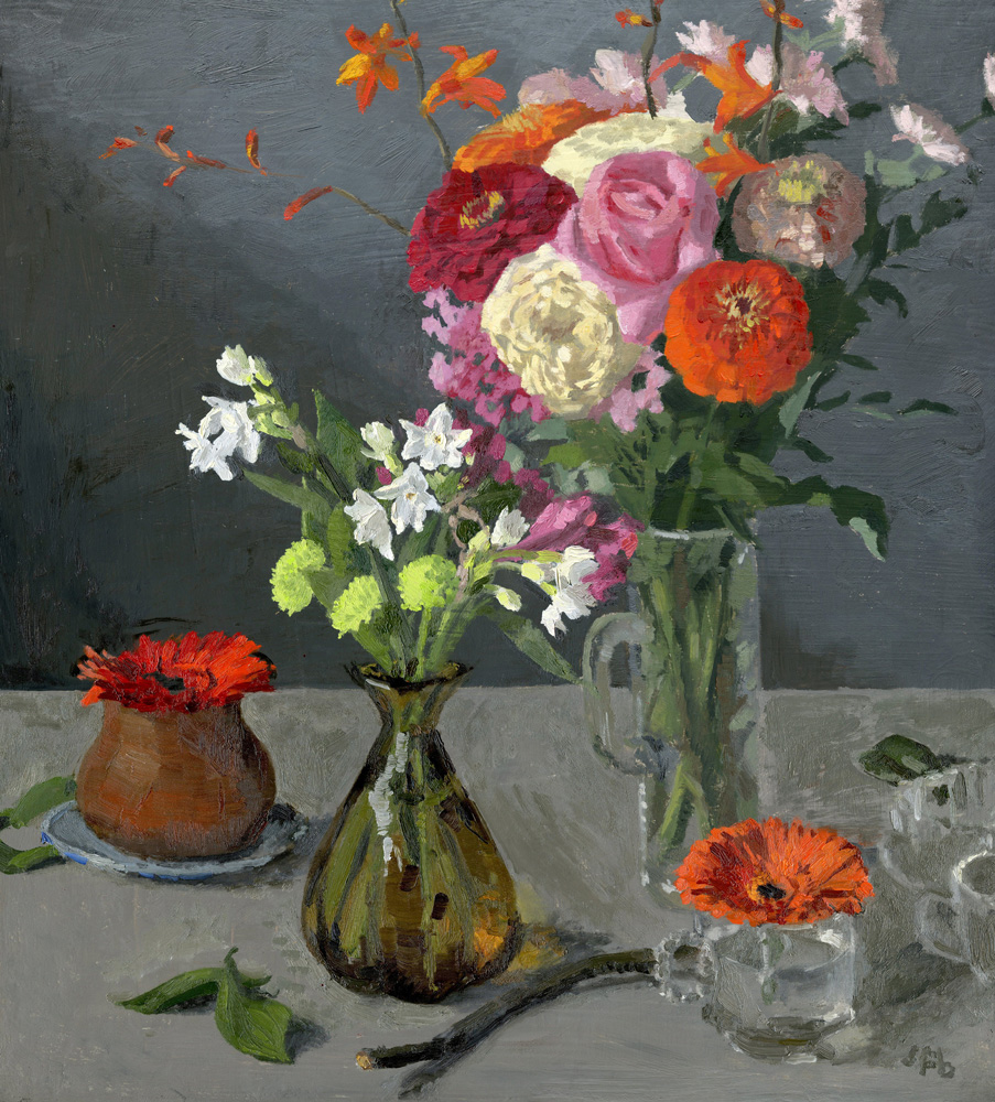 Still Life with Fall and Winter Flowers