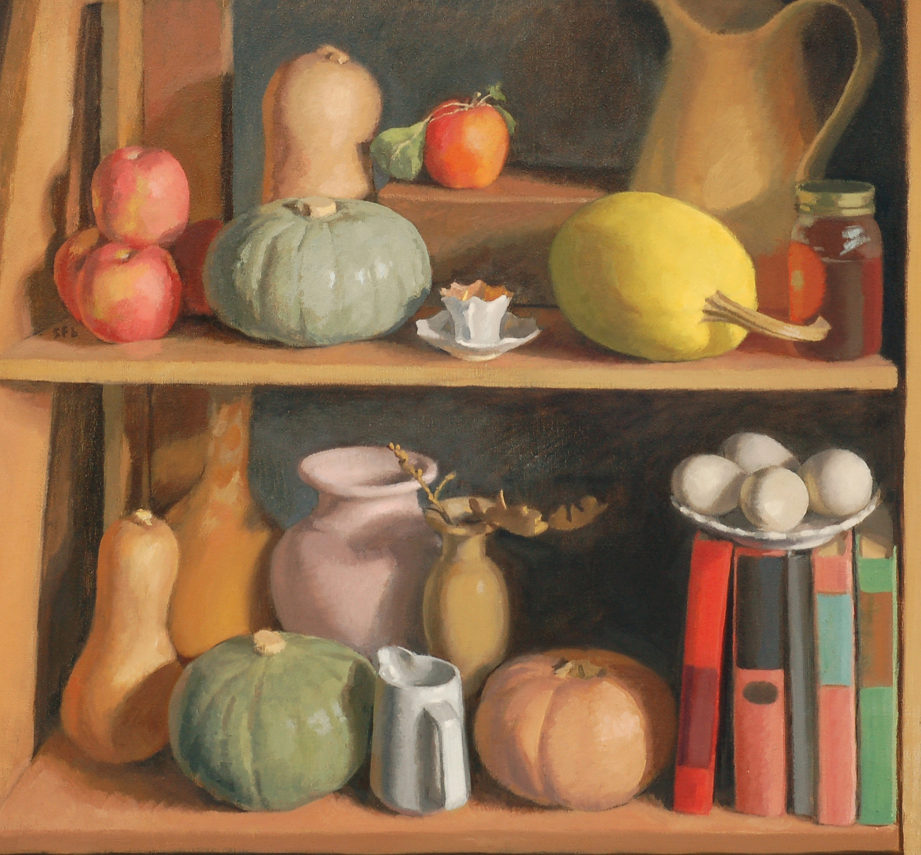 Still Life with Squash and Books