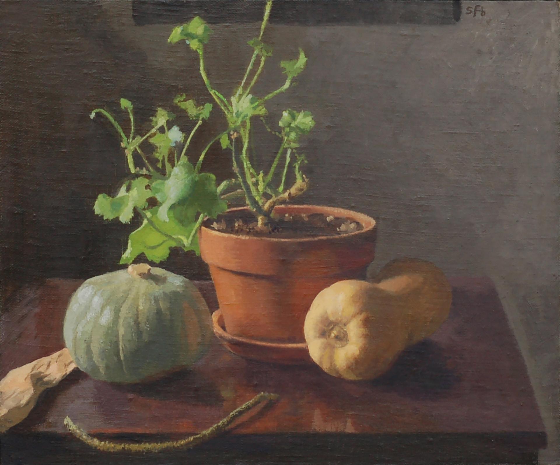 Winter Squash and Geranium