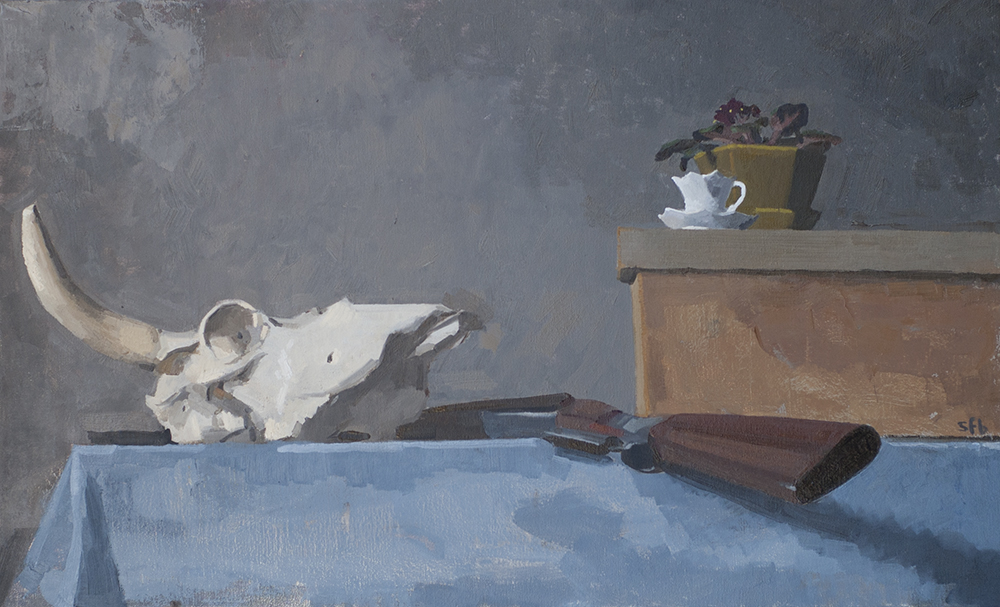 Skull with Tea Cup