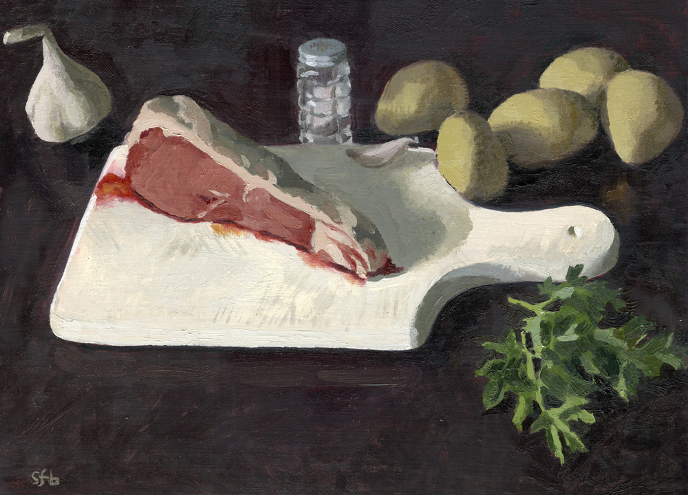 Still Life with Steak and Potatoes