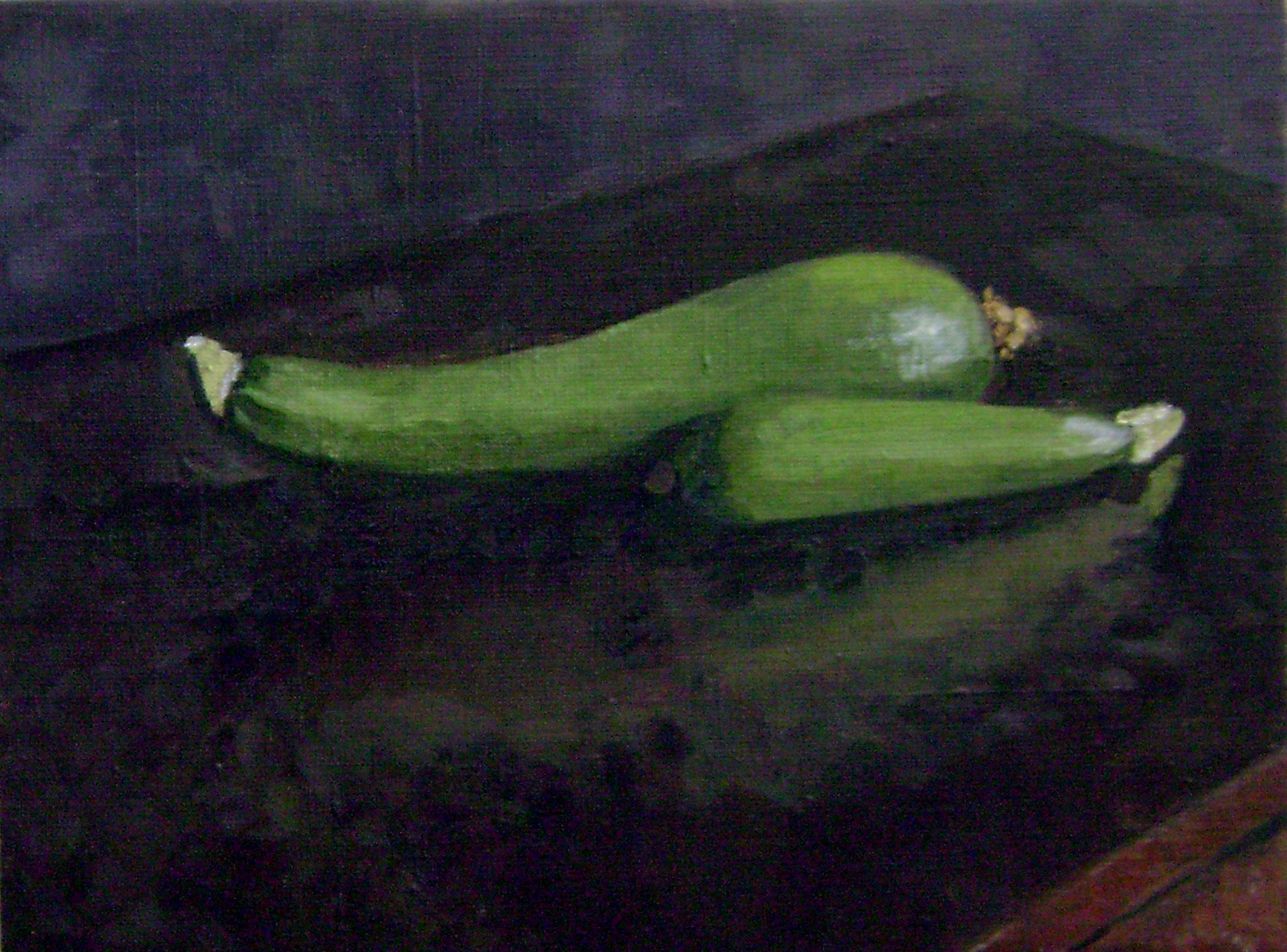 Still Life with  Garden Zucchini