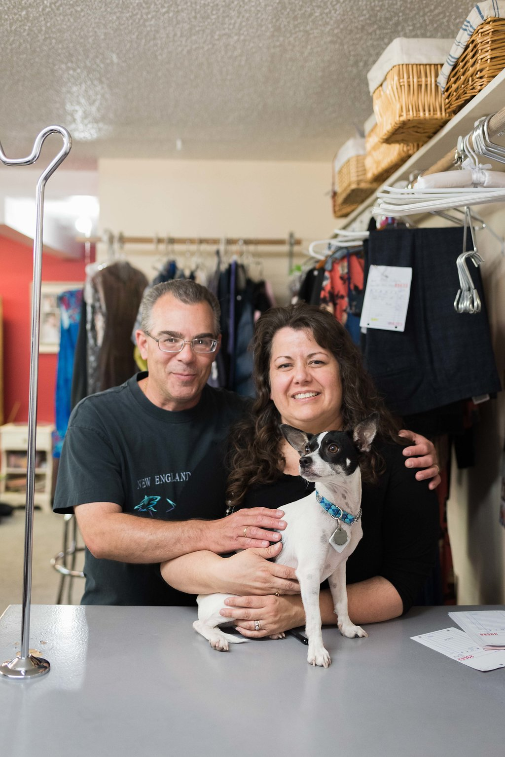Meet sabrina and mike! - Sabrina and Mike are the proud owners of Bend Alterations and Sabrina does most of the shop's alterations herself. She has been sewing for 46 years and is a master of her craft!