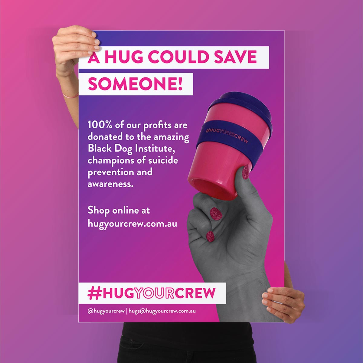 Hug Your Crew Poster - Studio Bert - Website Designer, Melbourne.jpg