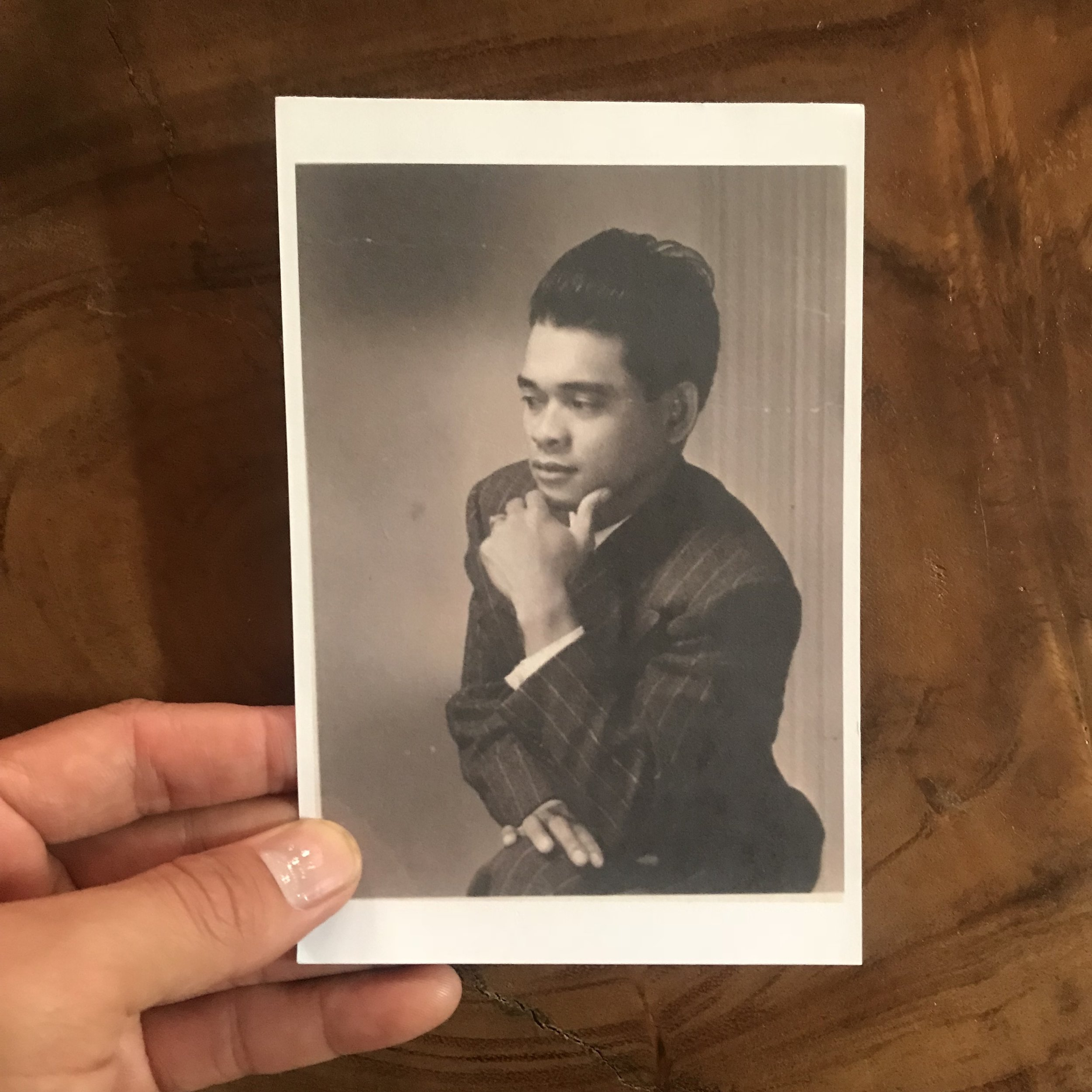 """Vintage photo of my father: Honorio Silva Carlon (1912-2008) circa 1932.  Filipinos have been a crucial part of America's cultural fabric, yet our stories are disregarded, minimized, and completely omitted from history books. I am using this month to announce that I am the recipient of the first L.A. Dance Project residency that supports a local artist to produce a new work. The residency is called MAKING:LA, and it starts this month and I work intermittently for 4 months creating a work on my own company CARLON, with a showcase in February (and a karaoke fundraiser in Dec, stay tuned, it's gon' be lit.) The reason why I waited this month to announce it publicly is because the work is about my quest to understand what it is to be Filipino and Filipino-American... or what it means to be Filipinx, really.  I AM FILIPINO-AMERICAN.  The work I am developing is a dance-theatre work that focuses on Filipino history: from my father's migration to America in the 1930s to being a strawberry picker (""""stealing jobs and women from white Americans"""") to colonization by Spain AND America AND how the Spanish-American War led to the Philippine-American War -- thinking about resistance and solidarity, and thinking about mestizo-privilege and being light-skinned, and thinking about what indigenous peoples are and how that might be a part of my forgotten ancestry, and thinking about thinking about... I've been thinking about this work since I started dancing when I was 18, about 14 years ago... I'll be using this account to document my quest through photos of my Filipino American story, integrating untold histories and uncovering a muddled identity of a second generation brown boy."""