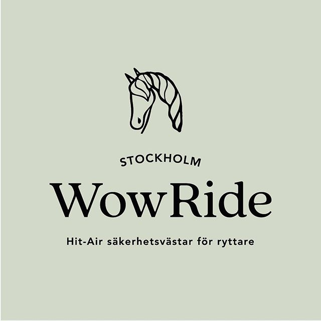 New identity for WowRide Stockholm – Hit-Air airbag Safety Vests for equestrians. And their new website is coming soon!