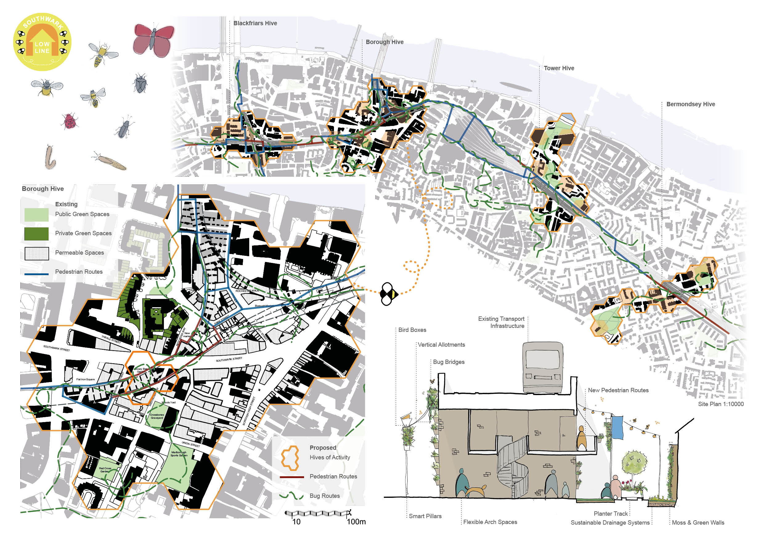RIBA Competition Low Line, Forge Architects