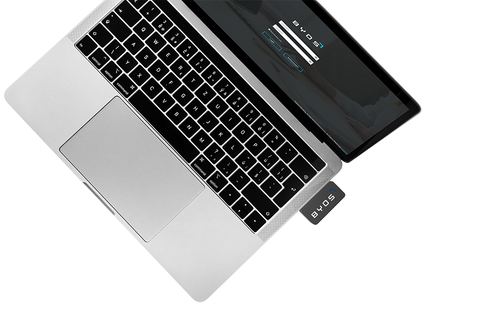 Byos Portable Secure Gateway - Byos replaces 90% of an enterprise security stack with a portable USB device
